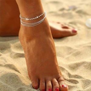 Multi Layer Rhinestone Ankle Bracelet
